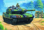German Leopard 2 A6EX Tank -- Plastic Model Military Vehicle Kit -- 1/35 Scale -- #82403