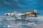 F-84G Thunderjet -- Plastic Model Airplane Kit -- 1/32 Scale -- #83208
