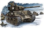 M4A3 76(W) US Tank -- Plastic Model Military Vehicle Kit -- 1/48 Scale -- #84805