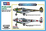 P-38L-5-LO Lightning -- Plastic Model Airplane Kit -- 1/48 Scale -- #85805