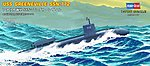 USS Navy Greenville SSN-77 -- Plastic Model Military Ship Kit -- 1/700 Scale -- #87016