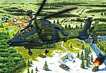 Eurocopter EC-655 Tiger UHT German -- Plastic Model Helicopter Kit -- 1/72 Scale -- #87214