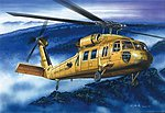 American UH-60A Blackhawk -- Plastic Model Helicopter Kit -- 1/72 Scale -- #87216