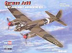 German JU88 Fighter -- Plastic Model Airplane Kit -- 1/72 Scale -- #hy80297