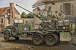 GMC Bofors 40mm Gun Cargo Truck -- Plastic Model Military Vehicle Kit -- 1/35 Scale -- #hy82459
