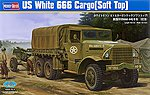 US White 666 Cargo (Soft Top) -- Plastic Model Military Vehicle Kit -- 1/35 Scale -- #hy83802