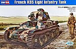 French R35 Light Infantry Tank -- Plastic Model Military Vehicle Kit -- 1/35 Scale -- #hy83806