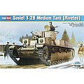 Soviet T-28E Tank Riveted -- Plastic Model Military Vehicle -- 1/35 Scale -- #hy83853