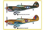 P-40M Kitty Hawk Fighter -- Plastic Model Airplane Kit -- 1/48 Scale -- #hy85801