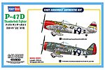P-47D Thunderbolt -- Plastic Model Airplane Kit -- 1/48 Scale -- #hy85804
