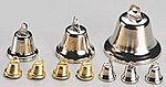 Bells 15mm Gold (4) -- Mission Project Accessory -- #y9243