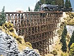 Timber Trestle Kit -- HO Scale Model Railroad Building -- #174