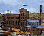 Brewery Kit -- N Scale Model Railroad Building -- #678