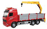Scania T Dump Truck w/Dump Trailer (red) -- G Scale Model Railroad Vehicle -- #20455
