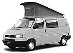 Volkswagen T4 Mini Van California Coach - Pop-Up Camper -- HO Scale Model Railroad Vehicle -- #42406