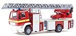 MAN - M2000 DLK 23/12 Rearmount Aerial Ladder Truck -- HO Scale Model Railroad Vehicle -- #46169
