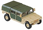 M998 Hummer (Tan w/Green Doors/Roof) -- HO Scale Model Railroad Vehicle -- #693