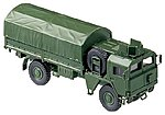 MAN 451/461 German Armored Truck w/Canvas-Type Cover -- HO Scale Model Railroad Vehicle -- #703