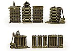 Artillery Shells on Pallets -- HO Scale Model Railroad Vehicle -- #742009