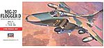 Mig27 Flogger D Aircraft -- Plastic Model Airplane Kit -- 1/72 Scale -- #00340