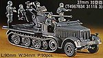8 Ton Half Track 37mm AA -- Plastic Model Halftrack Kit -- 1/72 Scale -- #31118