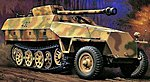 Sd.Kfz. 251/22 Ausf.D Pakwagen -- Plastic Model Halftrack Kit -- 1/72 Scale -- #31145