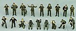 U.S. Pilot/Ground Crew Set B -- Plastic Model Military Figure -- 1/48 Scale -- #36005