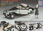 BMW 327 Super Sports Vintage Convertible Car -- Plastic Model Car Kit -- 1/48 Scale #36013