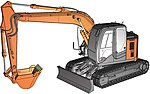 Hitachi Excavator Z Axis 135 US -- Plastic Model Kit -- 1/35 Scale -- #66001