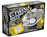 Visible Working V-Twin Motorcycle Engine w/Electric Motor & Sound