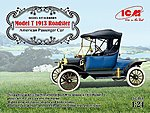 Model T 1913 Roadster American Passenger Car -- Plastic Model Car Kit -- 1/24 Scale -- #24001