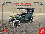Model T 1911 Touring American Passenger Car -- Plastic Model Car Kit -- 1/24 Scale -- #24002