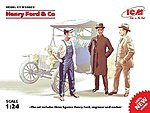 Henry Ford & Co. Figure Set (3) (New Tool) -- Plastic Model Car Kit -- 1/24 Scale -- #24003