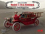 American Model T 1914 Fire Truck (New Tool) -- Plastic Model Truck Kit -- 1/24 -- #24004