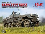 SdKfz 251/1 Ausf A WWII German APC -- Plastic Model Military Vehicle Kit -- 1/35 Scale -- #35101