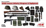 WWII German Infantry Weapons & Equipment -- Plastic Model Weapon Kit -- 1/35 Scale -- #35638