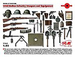 WWI Italian Infantry Weapons & Equipment -- Plastic Model Weapon -- 1/35 Scale -- #35686