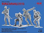 WWI Italian Infantry 1915 (4) -- Plastic Model Military Figure -- 1/35 Scale -- #35687