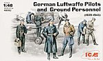 Luftwaffe Pilots & Ground Personnel 1939-45 (7) -- Plastic Model Military Figure -- 1/48 -- #48082