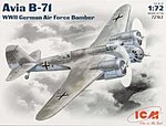 WWII Avia B71 German AF Bomber -- Plastic Model Airplane Kit -- 1/72 Scale -- #72163