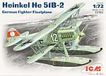 Heinkel He51B2 German Floatplane Fighter -- Plastic Model Airplane Kit -- 1/72 Scale -- #72192