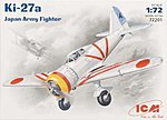 Ki27a Japanese Army Fighter -- Plastic Model Airplane Kit -- 1/72 Scale -- #72201