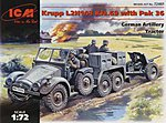 Krupp L2H143 Kfz 69 German Artillery Tractor -- Plastic Model Military Vehicle Kit -- 1/72 -- #72461