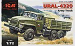 Ural 4320 Army Truck -- Plastic Model Military Truck Kit -- 1/72 Scale -- #72611