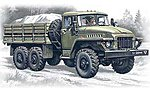 Ural 375D Army Truck -- Plastic Model Military Truck Kit -- 1/72 Scale -- #72711