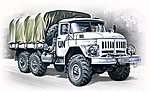 ZiL131 Stake Body Army Truck -- Plastic Model Military Truck Kit -- 1/72 Scale -- #72811