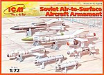 Soviet Air-to-Surface Aircraft Armament Set -- Plastic Model Weapons Kit -- 1/72 Scale -- #72213