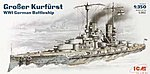 Grober Kurfurst WWI German Battleship -- Plastic Model Battleship Kit -- 1/350 Scale -- #s002