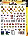 1/32 UltraCal Hi-Def Decals- Street & Train Track Signs -- Slot Car Decal -- #3350