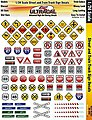 1/24 UltraCal Hi-Def Decals- Street & Train Track Signs -- Slot Car Decal -- #3450